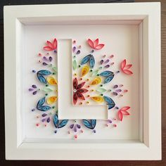 Arte Quilling, Quilling Letters, Paper Quilling Patterns, Quilling Paper Craft, Paper Crafts, Quilling Ideas, Quilling Flowers Tutorial, Peacock Quilling, Quilling Flower Designs