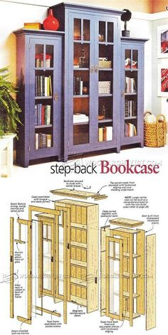 Stepback Bookcase Plans - Furniture Plans and Projects | WoodArchivist.com