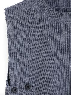 Shop Grey Round Neck Buttons Knit Sweater online. SheIn offers Grey Round Neck Buttons Knit Sweater & more to fit your fashionable needs.