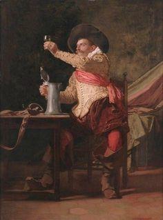 Charlemont, Eduard (b,1848)- Examing Wine