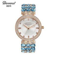 2016 new Women's Austrian crystal rhinestone jewelry watches Women fashion casual quartz watch