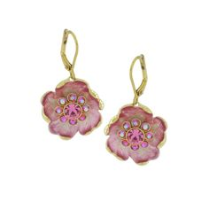 qvc Joan Rivers Floral Fantasy Carved Flower Drop Earrings U334 #JoanRivers #DropDangle
