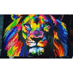 Colorful lion hama beads by inma.robles