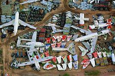Military aircraft store at Davis Monthan Air Force base, Arizona. this is kinda cool