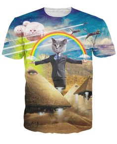 Cat Politician Rainbow Pyramids Cats t shirt //Price: $19.00 & FREE Shipping //     #instagood