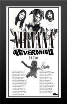 $28 each when you buy 2 Wood FRAMED Zappa Nirvana Tool Alt Rock Concert Poster LOT  #UrbanArt