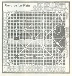 Plano de la ciudad de La Plata.