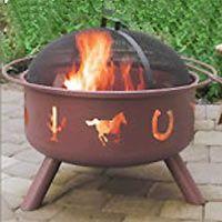 Landmann - 28336 - Big Sky Western Motif Outdoor Decorator Fire Pit Bowl - Georgia Clay - 29 in.  omg yes plz!!!!
