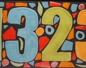mosaic house numbers House Numerology, Numerology Numbers, Fused Glass, Stained Glass, Mosaic Crafts, Mosaic Wall, House Numbers, Handmade Home, Mosaics
