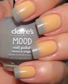 """Mood"" color changing nail polish"