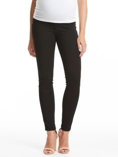 James Jeans Twiggy Maternity Jean with Belly Panel - Black Clean