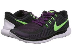 big sale 857f0 dbd94 Nike Free 5.0 Persian Violet Aluminum Fuchsia Glow Black - Zappos.com