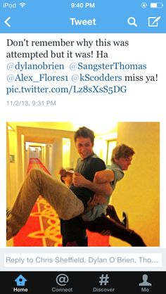 Somehow this happened with The Maze Runner cast... Via Chris Sheffield