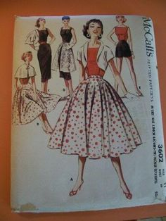this pattern has everything you could ever want in a vintage wardrobe!!  Mcall's 3602