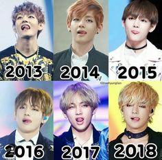 Taehyung is so grown now Time truly flies doesn't it Bts Taehyung, Bts Bangtan Boy, Bts Jimin, Foto Bts, Bts Photo, Bts Memes Hilarious, Bts Funny Videos, Billboard Music Awards, K Pop