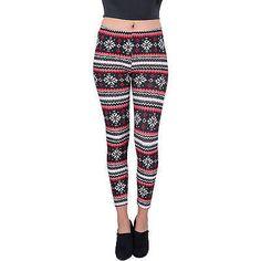 Aerusi Women's Four Points Design Full Length Stretchy Leggings, Multicolor Leggings Mode, Leggings Fashion, Black Leggings, Cute Designs, The Ordinary, Elastic Waist, Looks Great, Pajama Pants, Female