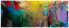 Brian Rutenberg. Low Dense, 2010, oil on linen, 63 x 158 inches