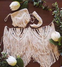 Macrame wedding collection macrame clutch macrame bouquet