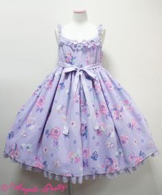 Angelic Pretty / Sweetie Violet JSK / ¥25704 / 2014 ----- I feel like this might look really swell on me!!