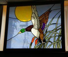 Mallard Window by StainedGlassByBev on Etsy, $455.00