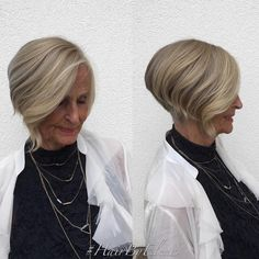 Stacked Bob For Women Over 60
