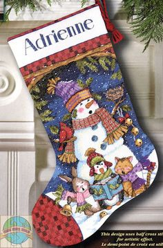 Dimensions - Cute Carolers Stocking - Cross Stitch World