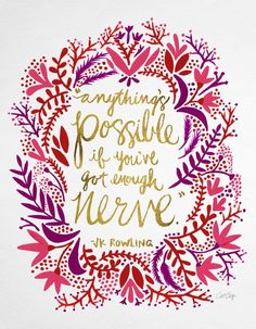 everything's possible if you've got enough nerve.