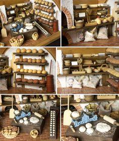 RÉSERVÉS Boulangerie vintage dans la boîte à pain par DinkyWorld