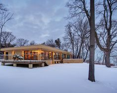 Lakefront Home Design: Edward Dart Home : Amazing Landscape Sweet White Environment Edward Dart Midcentury Modern