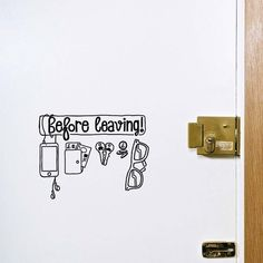 Before Leaving Checklist Sticker #Cool, #Sticker, #Wall