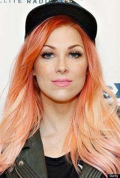 Bonnie McKee | man i need this girls hair | strawberry blonde meets the best kind of orange sherbert