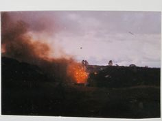 The ammo dump at Khe Sanh going up again on 23February1968 after an NVA rocket…