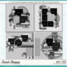 Cindy's Layered Templates - Set 142 by Cindy Schneider