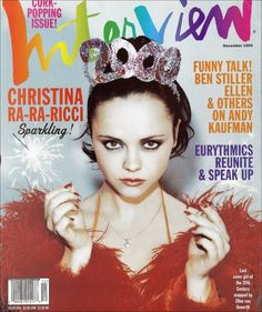Christina Ricci, Interview Magazine Cover, December 1999.