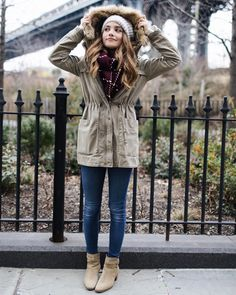 "Tess Christine on Instagram: ""Bundled up. It's cold and even started to snow here in NYC! SO be on the lookout for ""what I wear when it's freezing"" video on my channel soon! In the meantime check out my Winter Lookbook on my channel to see some of my favorite outfits! // - @moderngypsymedia"""