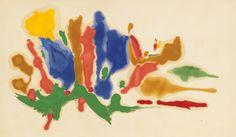 From Gagosian Gallery, Helen Frankenthaler, Cool Summer (1962), Oil on canvas, 69 × 120 in