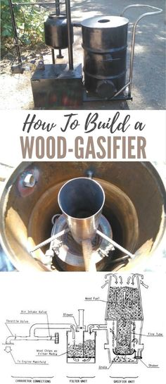 How To Build a Wood-Gasifier - Whether you want to be off the grid or simply prepared in the event of a sustained power outage, you are going to need an alternate source of energy at some point. A generator would seem like the practical solution to the energy problem, but what if you don't have access to fuel? Images by tatebullrider/instructables.com