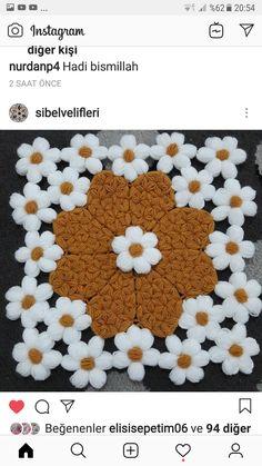 Crochet Bedspread, Crochet Tablecloth, Crochet Girls Dress Pattern, Crochet Flowers, Elsa, Diy And Crafts, Daisy, Model, Instagram