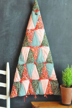 Vintage Fake Christmas Tree 80s Quilted Wall by drowsySwords