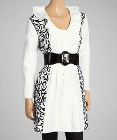 This White Swirl Jacket - Women & Plus by Jerry T Fashion is perfect! #zulilyfinds