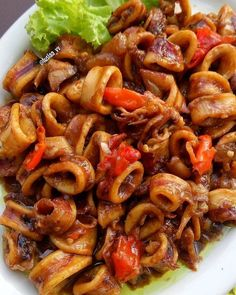 Resep olahan seafood Instagram Recipes With Fish And Shrimp, Squid Recipes, Seafood Recipes, Healthy Chicken Recipes, Asian Recipes, Ethnic Recipes, Easy Cooking, Cooking Recipes, Seafood Diet