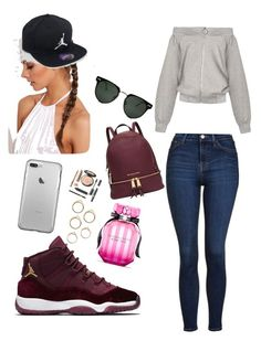 """""""Untitled #42"""" by abbiemiller-1 on Polyvore featuring Topshop, Jordan Brand, Victoria's Secret, Michael Kors and Spitfire"""