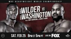 Today evening time, PBC presents their most recent card and their arrival to Fox between Deontay Wilder vs Gerald Washington. Watch here the fight live.