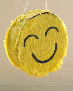 DIY Emoji Piñata _ great for a kids birthday party!