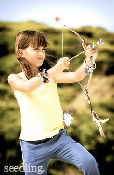 Channel your inner Katniss Everdeen this holiday with the design your own bow & arrow kit! Shop now at www.seedling.com