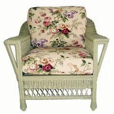 Visit American Country for the Bar Harbor Wicker Arm Chair. Made of whole-core woven rattan on a solid wood frame. Classic beauty made to last. Shop now! Muebles Shabby Chic, Shabby Chic Chairs, Shabby Chic Kitchen Decor, Shabby Chic Homes, Shabby Chic Furniture, Maine Cottage Furniture, Wicker Chairs, Rattan Furniture, Porch Furniture