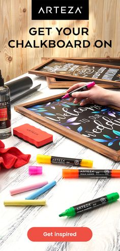 Arts And Crafts Supplies, Diy Arts And Crafts, Home Crafts, Fun Crafts, Paper Crafts, Chalkboard Doodles, Framed Chalkboard, Photo Transfer To Wood, Chalk Markers
