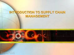 What is #SupplyChainManagement?