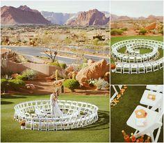 Unique Wedding Ceremony Ideas | Unique Ceremony Seating Ideas for Outdoor Weddings - Bajan Wed