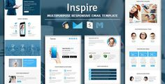 Inspire - Multipurpose Responsive Email Template with Stampready Builder Access - Newsletters Email Templates